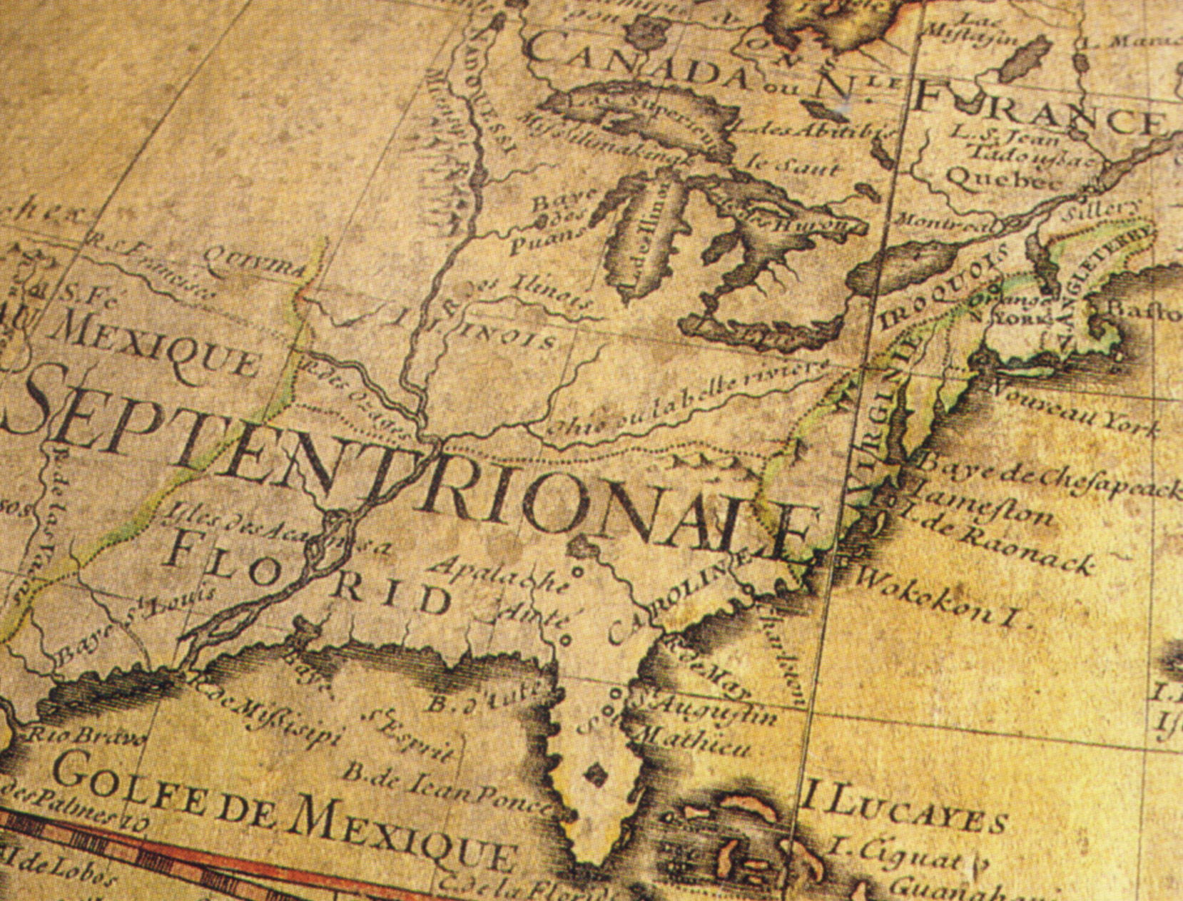 EMAS Continental And Regional Maps Prints - Map of north america 1700