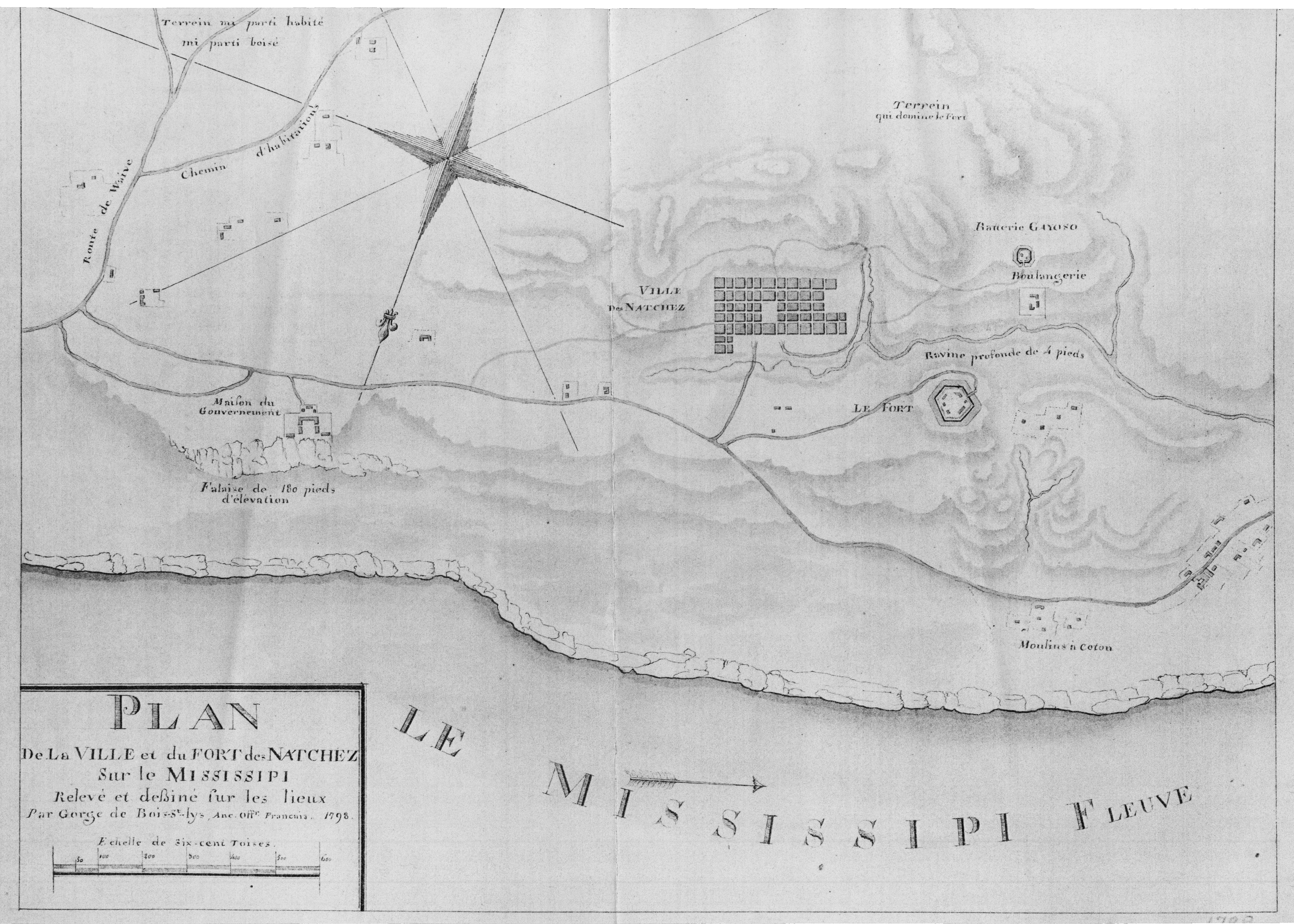 Plan D Etabli Bois early maps of colonial natchez